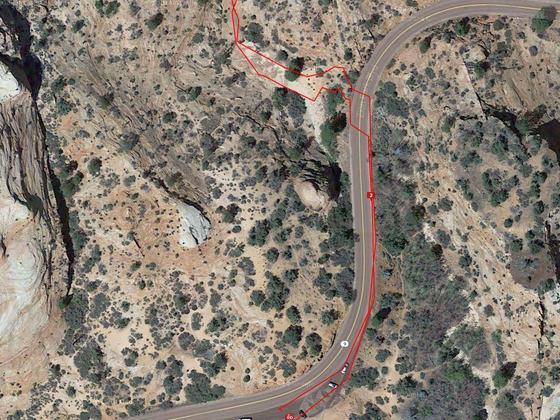 Trailhead Many Pools Zion NP